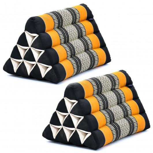 cuivre, bordeaux la m/éditation ou la relaxation style triangle Coussin inclinable traditionnel tha/ïlandais kapok oriental id/éal pour le yoga
