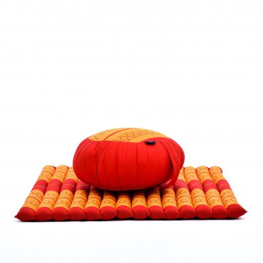 Zafu Zabuton Meditation Seat Set Kapok red Yoga zen cotton lotus seat pillows