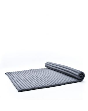 Leewadee Roll-Up Thai Mattress, 79x59x2 inches, Guest Bed Yoga Floor Mat Thai Massage Pad XL Twinsize Eco-Friendly Organic and Natural,  Kapok, anthracite