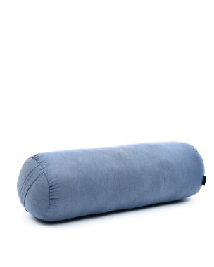 Leewadee Long Yoga Bolster Supportive Pilates Roll Cushion Neck Pillow Eco-Friendly Organic and Natural, 25.5x10x10 inches, Kapok, anthracite