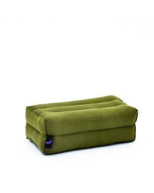 Leewadee Yoga Block Pilates Brick Eco-Friendly Organic and Natural, 14x7x5 inches, Kapok, green