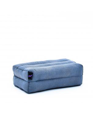 Leewadee Yoga Block Pilates Brick Eco-Friendly Organic and Natural, 14x7x5 inches, Kapok, anthracite