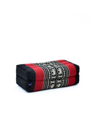 Leewadee Yoga Block Pilates Brick Eco-Friendly Organic and Natural, 14x7x5 inches, Kapok, black red