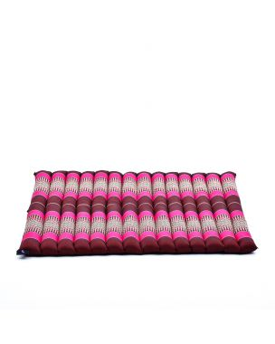Leewadee Meditation Cushion Large Square Zabuton Mat For Floor Seating Eco-Friendly Organic and Natural, Kapok, auburn pink