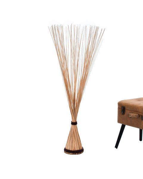 Leewadee Decorative freestanding dried bunch, 47 inches, Dried Natural-Grass, ecru