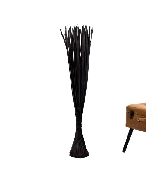 Leewadee Decorative freestanding dried bunch, 47 inches, Palm Leaf, black