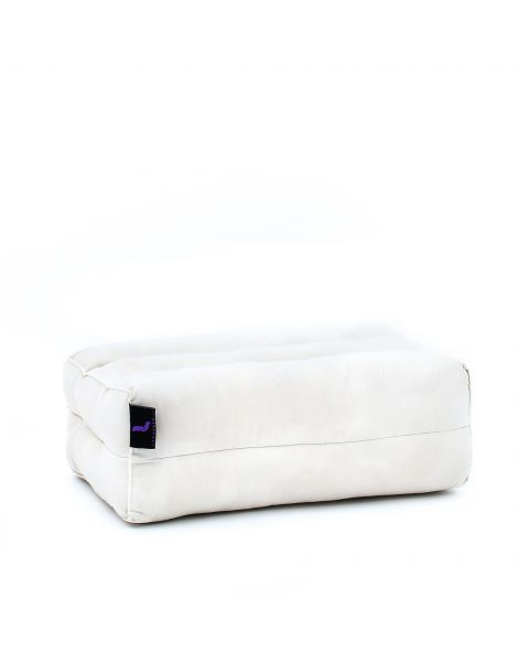 Leewadee Yoga Block Pilates Brick Eco-Friendly Organic and Natural, 35x18x12 cm, Kapok, white