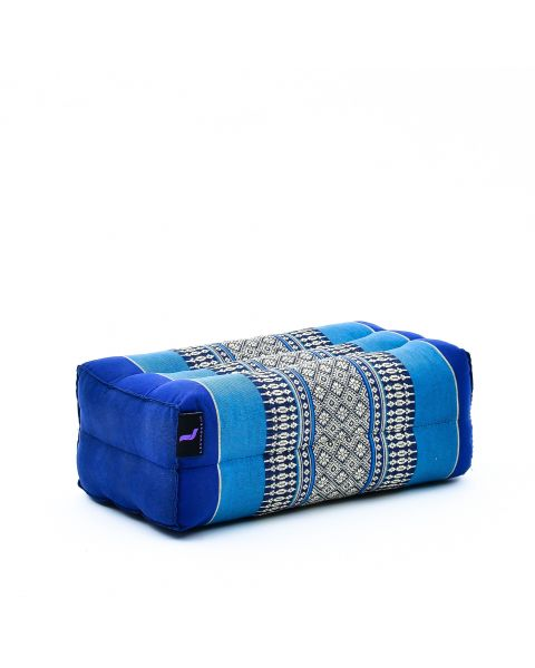 Leewadee Yoga Block Pilates Brick Eco-Friendly Organic and Natural, 35x18x12 cm, Kapok, blue