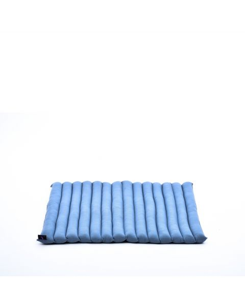 Leewadee Meditation Cushion Large Square Zabuton Mat For Floor Seating Eco-Friendly Organic and Natural, 27x31x1.7 inches, Kapok, anthracite