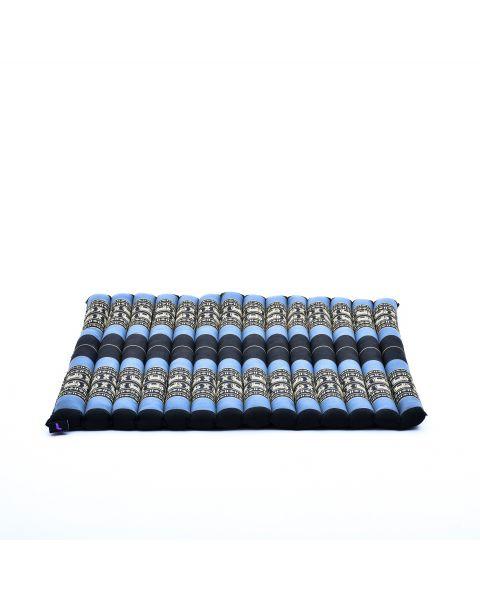 Leewadee Meditation Cushion Large Square Zabuton Mat For Floor Seating Eco-Friendly Organic and Natural, 27x31x1.7 inches, Kapok, blue