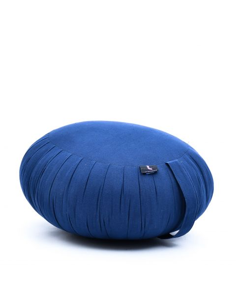 Leewadee Meditation Cushion Round Zafu Pillow For Floor Seating Eco-Friendly Organic and Natural, 40x20 cm, Kapok, blue