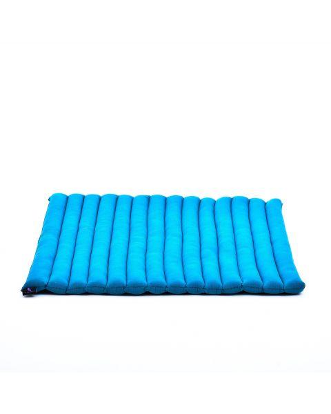 Leewadee Meditation Cushion Large Square Zabuton Mat For Floor Seating Eco-Friendly Organic and Natural, 27x31x1.7 inches, Kapok, light blue