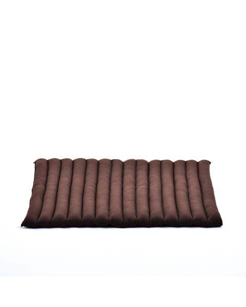Leewadee Meditation Cushion Large Square Zabuton Mat For Floor Seating Eco-Friendly Organic and Natural, 27x31x1.7 inches, Kapok, brown