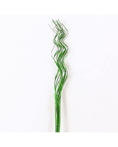 Leewadee Dried coloured palm leaf bunch for floor vases decorative grass twig bunch, 41 inches, Palm Leaf, green