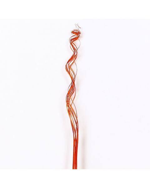 Leewadee Dried coloured palm leaf bunch for floor vases decorative grass twig bunch, 47 inches, Palm Leaf, orange