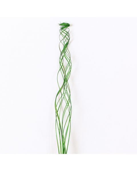 Leewadee Dried coloured palm leaf bunch for floor vases decorative grass twig bunch, 39 inches, Palm Leaf, green