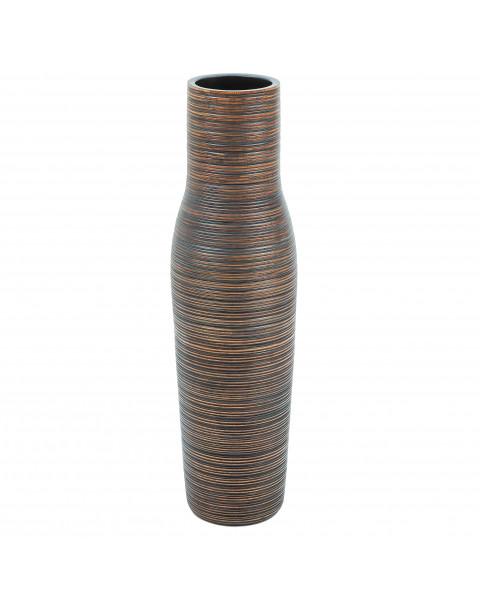 Leewadee Tall Big Floor Standing Vase For Home Decor 90 cm, Mango Wood, brown