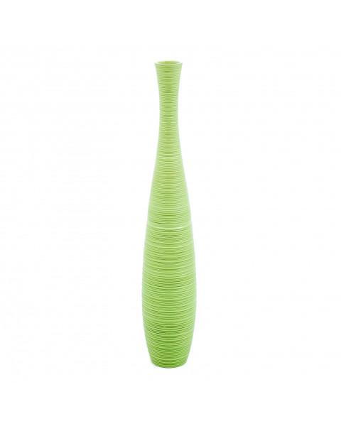 Leewadee Grand vase à poser au sol - Vase à poser au sol pour branches décoratives, vase haut design en bois de manguier, 90 cm, vert