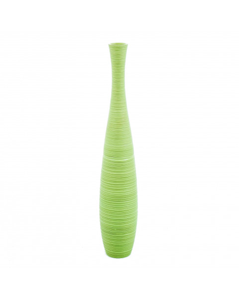 Leewadee Tall Big Floor Standing Vase For Home Decor 90 cm, Mango Wood, green