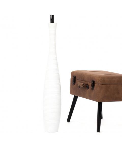 Leewadee Tall Big Floor Standing Vase For Home Decor 36 inches, Mango Wood, white