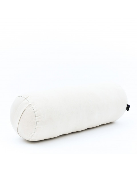 Leewadee Long Yoga Bolster Supportive Pilates Roll Cushion Neck Pillow Eco-Friendly Organic and Natural, 26x10x10 inches, Kapok, ecru