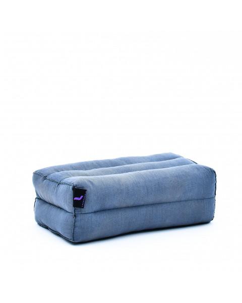 Leewadee Yoga Block Pilates Brick Eco-Friendly Organic and Natural, 35x18x12 cm, Kapok, anthracite