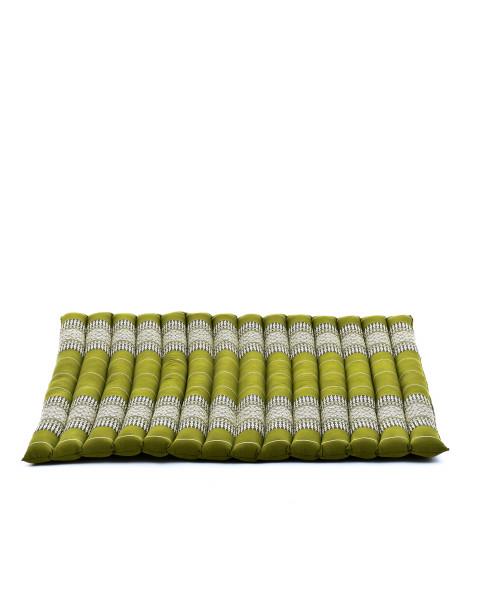 Leewadee Grande Tappetino Quadrato Zabuton Per La Seduta A Pavimento Cuscino Da Meditazione Ecologico Organico E Naturale, 69x78x4.5 cm, Kapok, verde