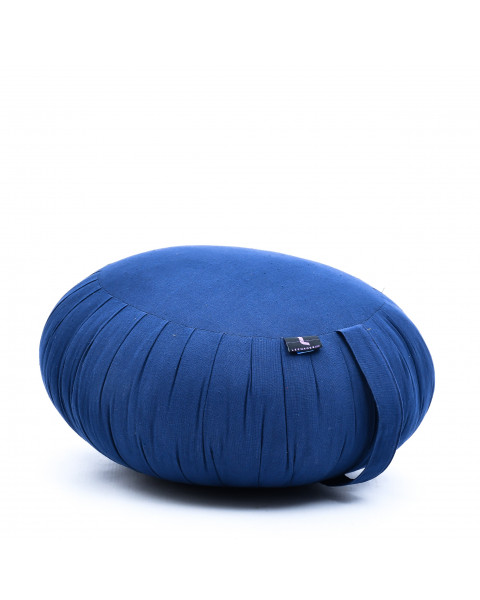 Leewadee Meditation Cushion Round Zafu Pillow For Floor Seating Eco-Friendly Organic and Natural, 16x8 inches, Kapok, blue