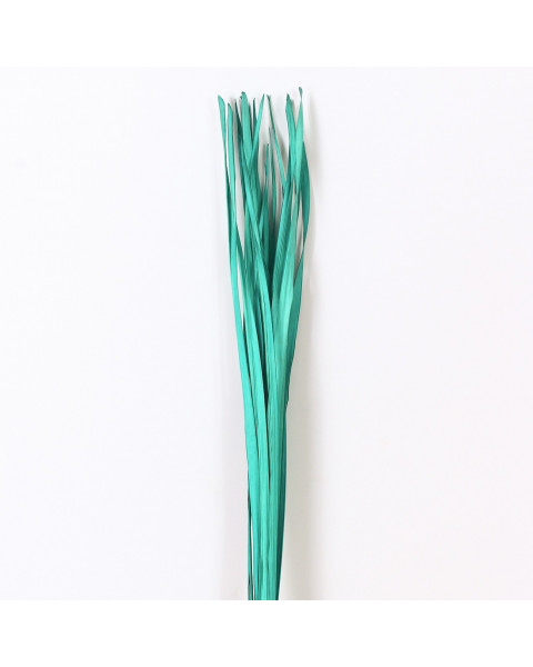 Leewadee Dried coloured palm leaf bunch for floor vases decorative grass twig bunch, 47 inches, Palm Leaf, turquoise