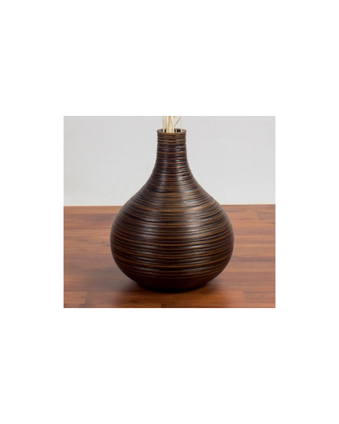 Leewadee Tall Big Floor Standing Vase For Home Decor, 10x12 inches, Mango Wood, brown