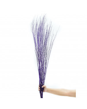 Leewadee Dried coloured palm leaf bunch for floor vases decorative grass twig bunch, 2x2x47 inches, Rattan, lavender
