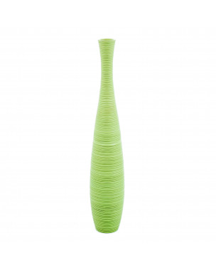 Leewadee Tall Big Floor Standing Vase For Home Decor 36 inches, Mango Wood, green
