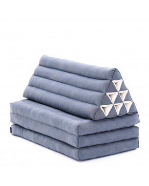 Leewadee XL Foldout Triangle Thai Cushion, 67x31x13 inches, Kapok, anthracite