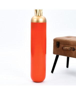 Leewadee Tall Big Floor Standing Vase For Home Decor 30 inches, Mango Wood, orange