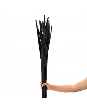 Leewadee Dried coloured palm leaf bunch for floor vases decorative grass twig bunch, 47 inches, Palm Leaf, black