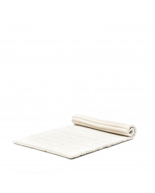 Leewadee Roll-Up Thai Mattress Twinsize Guest Bed Yoga Floor Mat Thai Massage Pad Eco-Friendly Organic and Natural, 79x41x2 inches, Kapok, ecru