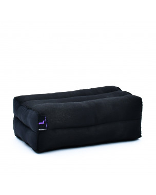 Leewadee Yoga Block – Floor Cushion for Yoga Practice, Meditation Seat Cushion for Workouts Filled with Eco-Friendly Kapok, 14 x 7 x 5 inches, black