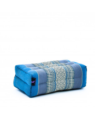 Leewadee Yoga Block – Floor Cushion for Yoga Practice, Meditation Seat Cushion for Workouts Filled with Eco-Friendly Kapok, 14 x 7 x 5 inches, light blue