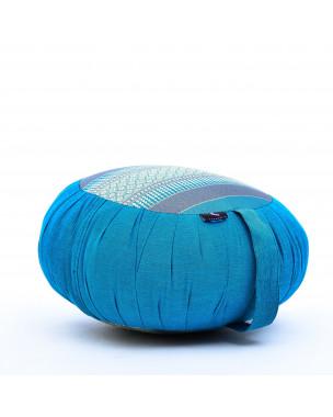 Leewadee Zafu Yoga Pillow – Round Meditation Cushion for Yoga Exercises, Light Floor Pillow Filled with Eco-Friendly Kapok, 16 x 8 inches, light blue
