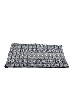 Leewadee Meditation Cushion Large Square Zabuton Mat For Floor Seating Eco-Friendly Organic and Natural, 27x31x2 inches, Kapok, black