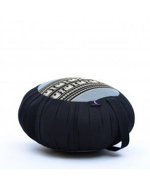 Leewadee Zafu Yoga Pillow – Round Meditation Cushion for Yoga Exercises, Light Floor Pillow Filled with Eco-Friendly Kapok, 16 x 8 inches, blue