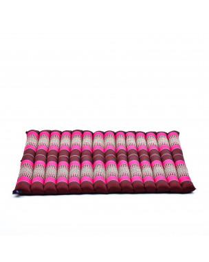 Leewadee Zabuton Seating Cushion – Square Floor Seat for Meditation Exercises, Light Yoga Mat Filled with Eco-Friendly Kapok, 27 x 31 inches, auburn pink