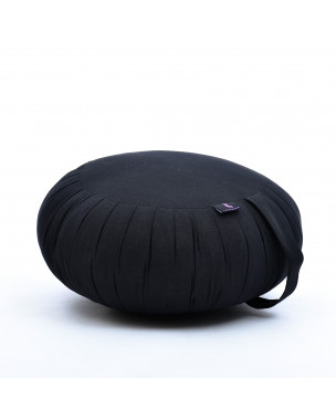 Leewadee Zafu Yoga Pillow – Round Meditation Cushion for Yoga Exercises, Light Floor Pillow Filled with Eco-Friendly Kapok, 16 x 8 inches, black