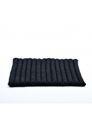 Leewadee Meditation Cushion Large Square Zabuton Mat For Floor Seating Eco-Friendly Organic and Natural, 27x31x2 inches, Kapok, black