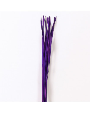 Leewadee Dried coloured palm leaf bunch for floor vases decorative grass twig bunch, 47 inches, Palm Leaf, lavender