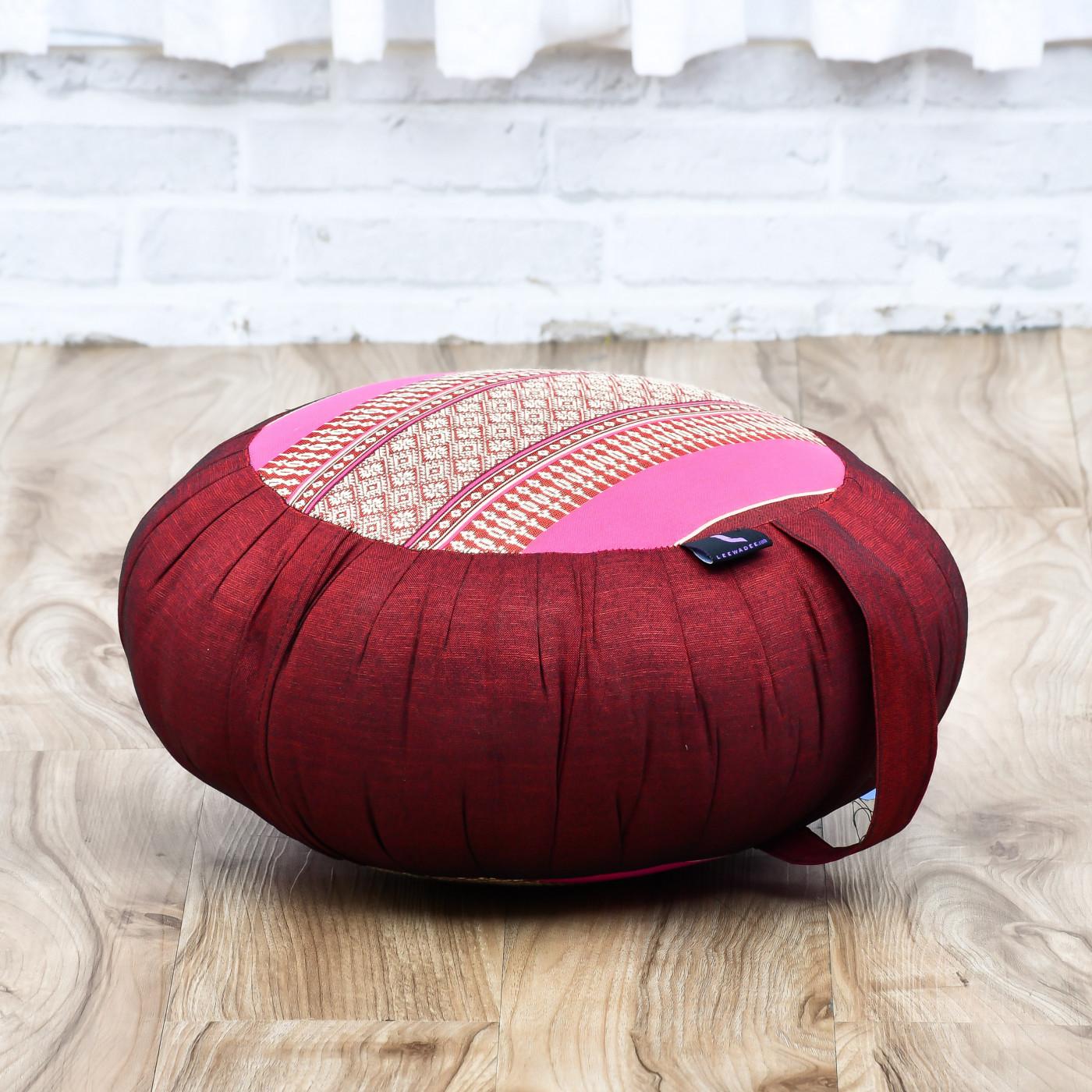 Leewadee Coj/ín Redondo De Meditaci/ón Almohada De Yoga Zafu Org/ánico Naturalmente Ecol/ógico 40x20 cm Capok