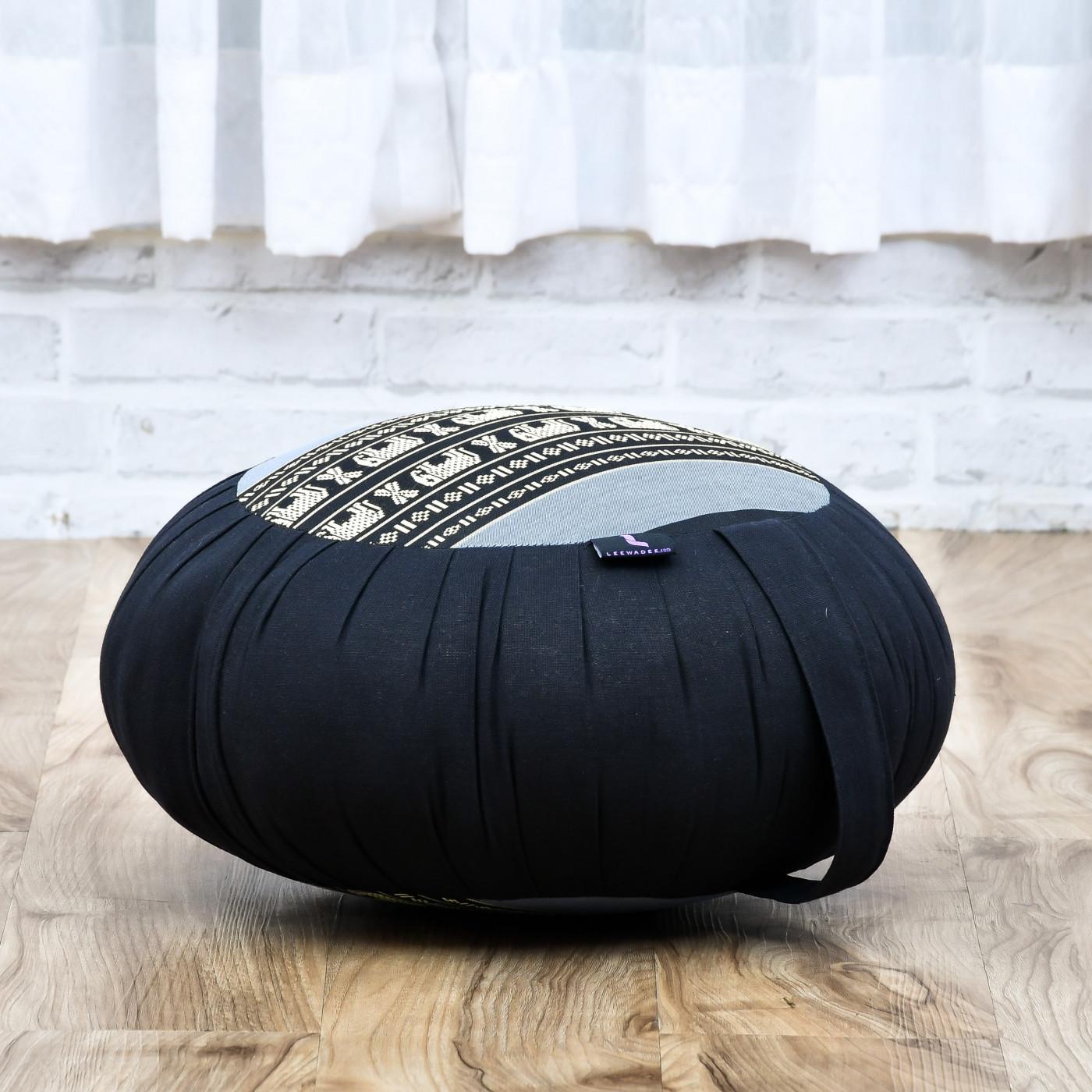 Kapok Leewadee Cuscino Rotondo Zafu da Meditazione per La Seduta A Pavimento Ecologico Organico E Naturale 40x20 cm