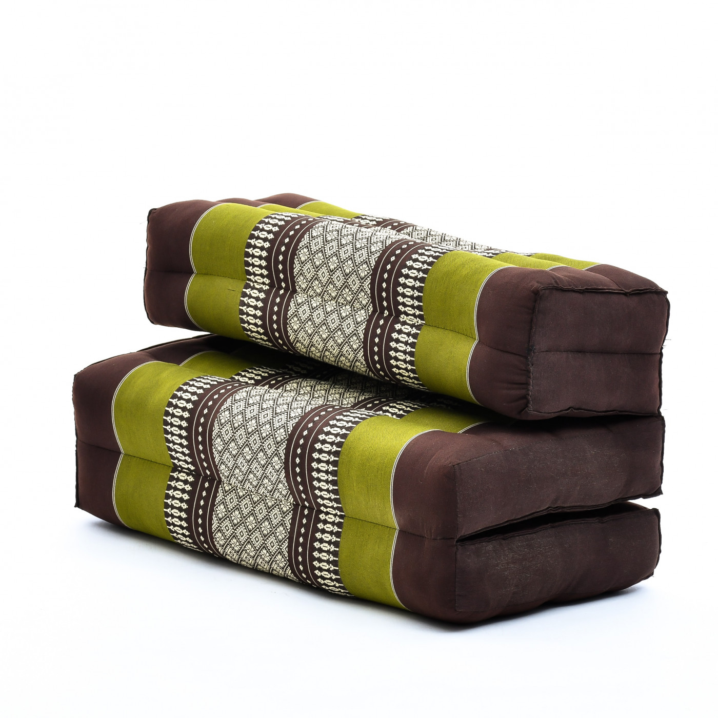 Kapok Leewadee Foldable Meditation Floor Seat 2 in 1 Set Meditation Pillow and Cushion Underlay in One Eco-Friendly Organic and Natural